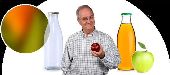 Remplissage de vos bouteilles de jus de fruit pressé